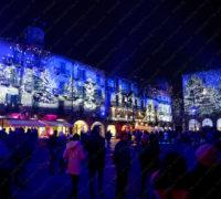 Projection du bois enchanté Piazza Duomo à Côme