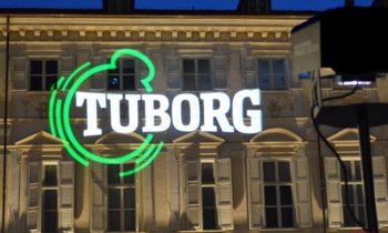 Projection logo Tuborg