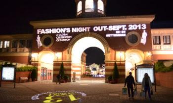 Serravalle Outlet Village Fashion Night projections scénographiques publicitaires
