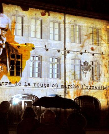 Video mapping à Besancon Musée Victor Hugo