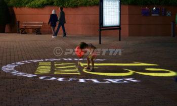 Projection de logos sur les sols et les trottoirs