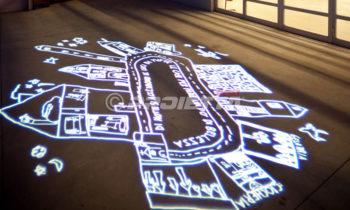 Projections de graphismes artistiques sur le sol