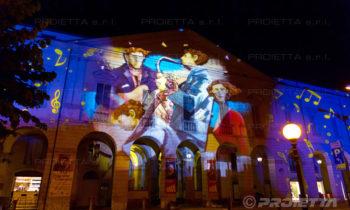 Projection des œuvres d'art de Giampaolo Talani