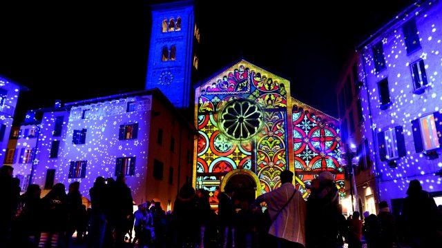 Natale a Como - proiezioni natalizie