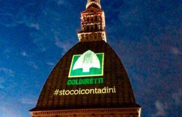 Projection logo Coldiretti Mole de Turin