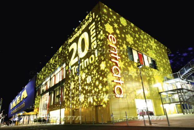 Projections de Noël pour les centres commerciaux - Ikea Arredamenti