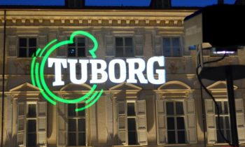 Projection logo Tuborg