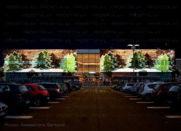 Projections de Noël pour centres commerciaux