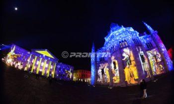 Projection d'images sacrées Duomo et théâtre de Como