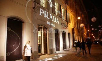Projection pour le magasin Prada à Turin
