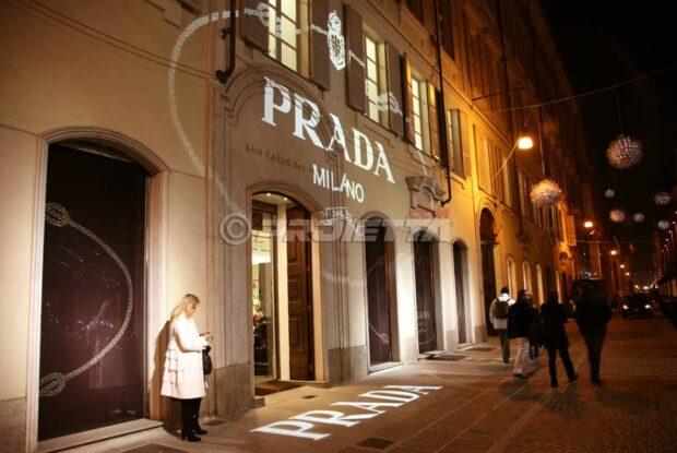 Projection pour le magasin Prada à Turin