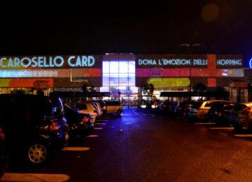 Promotion des soldes ò Carosello avec des projections vidéo