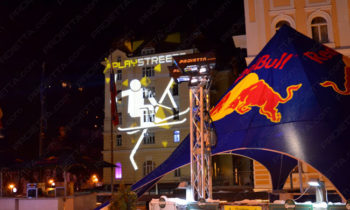 Red Bull Play Street projections publicitaires