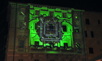 video mapping Lucca Comics