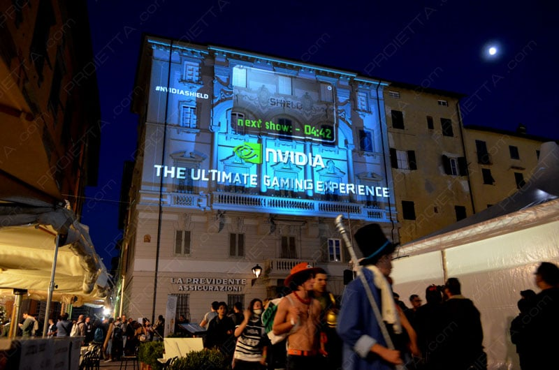 Video Mapping per Lucca Comics