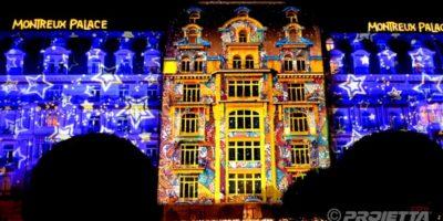 Video mapping hôtel Montreux Palace 2018