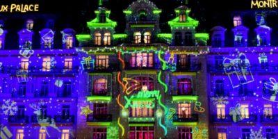 Video Mapping de Noël à Montreux