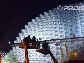 Eclairage architectural de l'esplanade de Singapour
