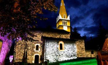Proiezione mappata chiesa di Sauze d'Oulx