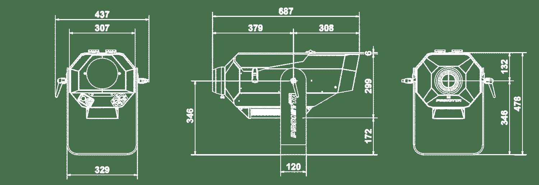 Proiettore thorok 700 W PROIETTA